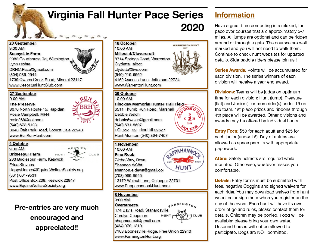 Fall 2020 Fun Hunter Pace